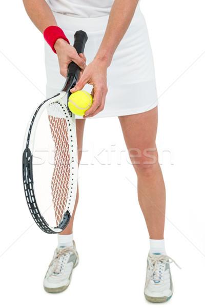 спортсмена теннис готовый женщину спортивных Сток-фото © wavebreak_media
