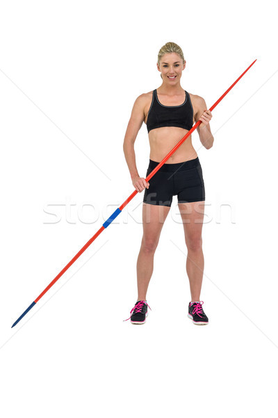 Atlet ayakta kadın mutlu eğitim oyun Stok fotoğraf © wavebreak_media