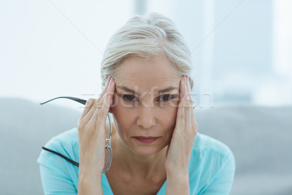 Ritratto donna sofferenza mal di testa senior home Foto d'archivio © wavebreak_media