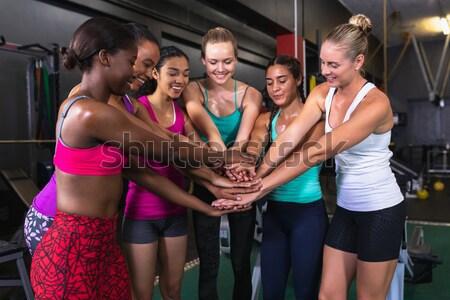 Stockfoto: Mensen · gymnasium · oefening · vrouw · fitness · gezondheid