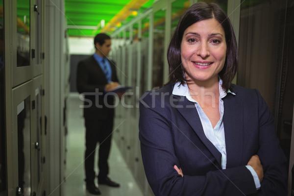Portrait of female technician standing with arms crossed Stock photo © wavebreak_media