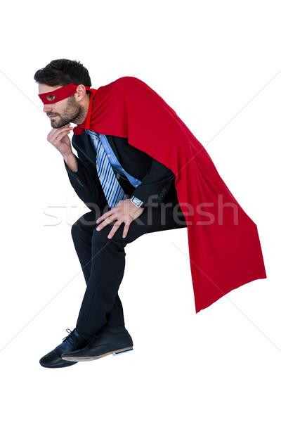Businessman pretending to be a super hero Stock photo © wavebreak_media