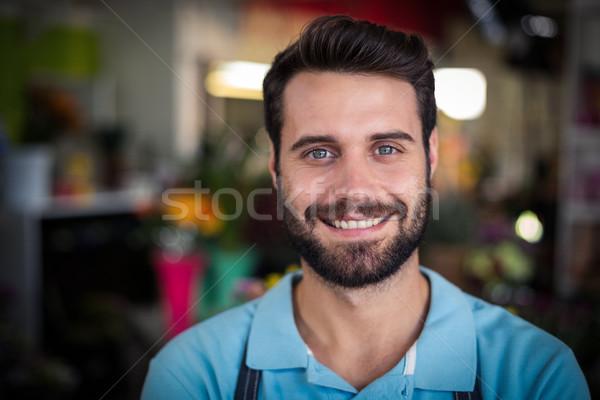 Portrait Homme fleuriste souriant affaires Photo stock © wavebreak_media