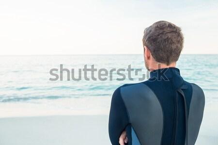 Nachdenklich Mann stehen Strand Natur Meer Stock foto © wavebreak_media