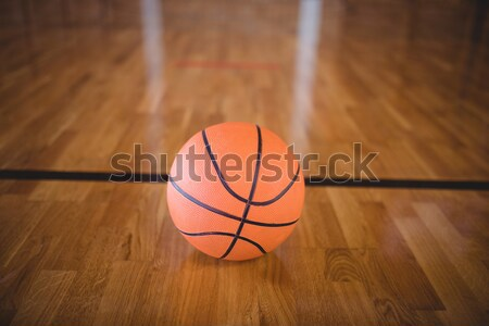 Primer plano cancha de baloncesto madera baloncesto pelota juego Foto stock © wavebreak_media