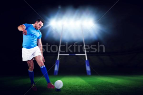 画像 ラグビー プレーヤー 準備 キック ストックフォト © wavebreak_media