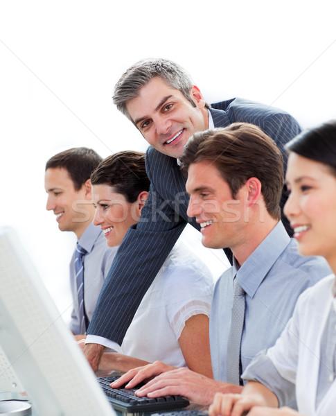 Menedzser dolgozik csapat fehér számítógép nő Stock fotó © wavebreak_media