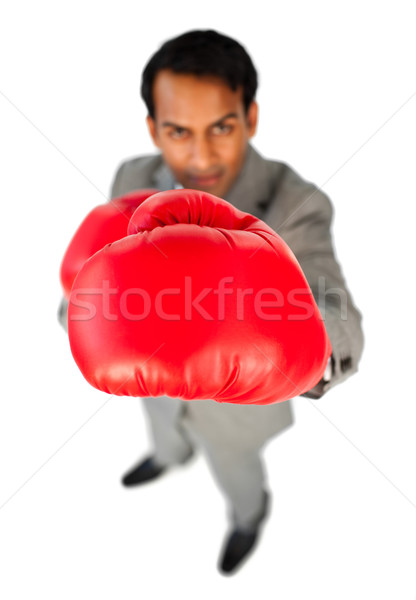 Etnicznych biznesmen na zewnątrz konkurencja biały człowiek Zdjęcia stock © wavebreak_media