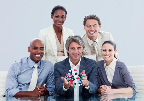 честолюбивый бизнес-команды женщину заседание науки Сток-фото © wavebreak_media