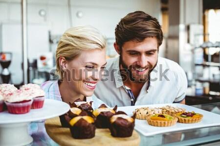 влюбленный пару кухне любви человека Сток-фото © wavebreak_media