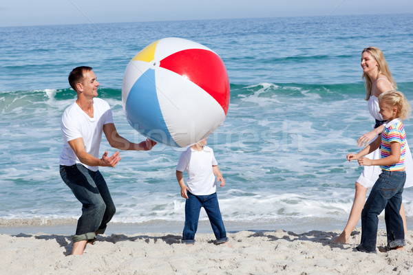 Lively family playing with a ball  Stock photo © wavebreak_media