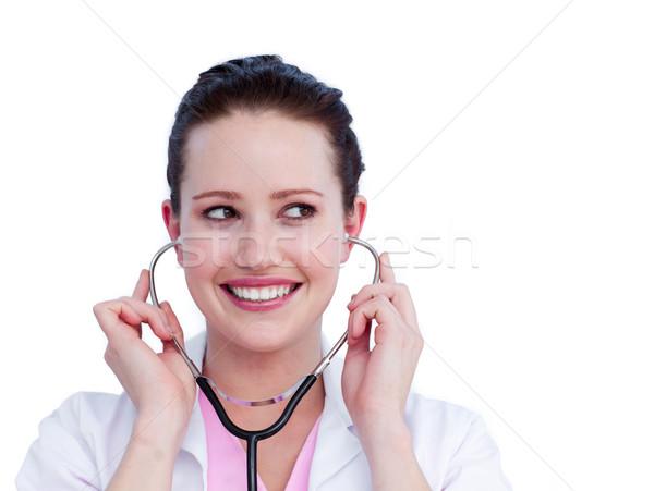 портрет очаровательный женщины врач стетоскоп Сток-фото © wavebreak_media