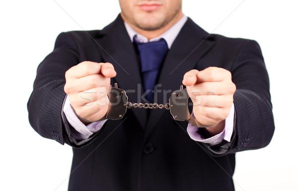 Zakenman omhoog hand jonge business mannen Stockfoto © wavebreak_media