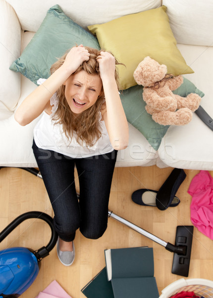 Stressed young woman doing housework  Stock photo © wavebreak_media