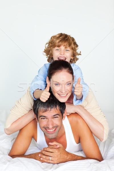 かわいい 少年 登山 両親 戻る ストックフォト © wavebreak_media