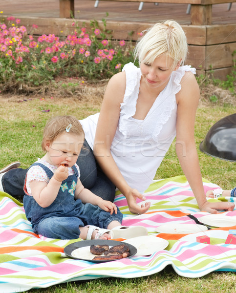 Cute Mother and daughter having a picnic together in a park  Stock photo © wavebreak_media