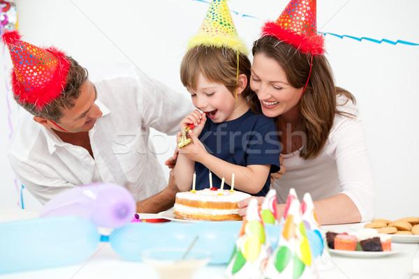 счастливым родителей рождения домой женщину Сток-фото © wavebreak_media