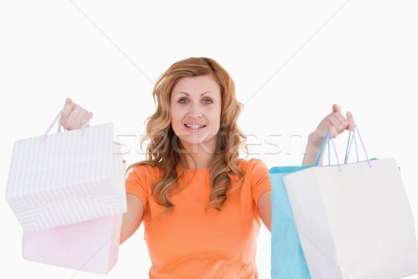 Bonitinho mulher compras sorrir mulheres Foto stock © wavebreak_media