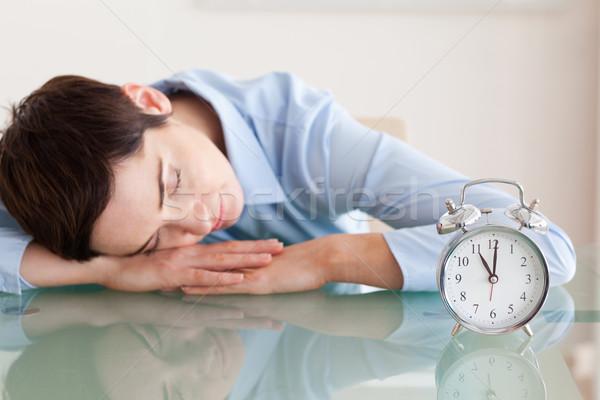 Uyku sevimli kadın kafa büro ofis Stok fotoğraf © wavebreak_media