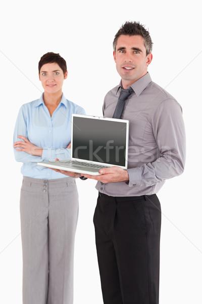 портрет человека ноутбука коллега позируют Сток-фото © wavebreak_media
