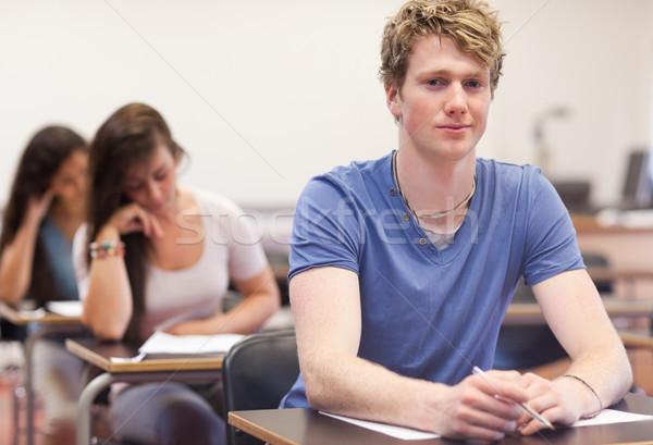 Stok fotoğraf: Genç · Öğrenciler · sınıf · kadın · mutlu