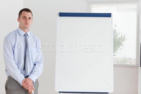 Confident businessman ready for his presentation Stock photo © wavebreak_media