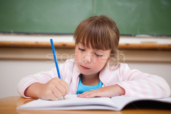 Serious girl writing in a classroom Stock photo © wavebreak_media