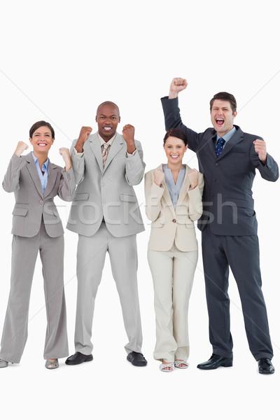 бизнес-команды вместе белый счастливым бизнесмен Сток-фото © wavebreak_media