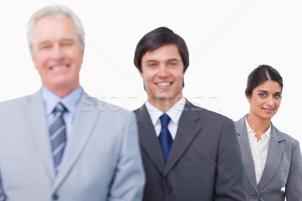 微笑 成熟 商人 白 業務 商業照片 © wavebreak_media