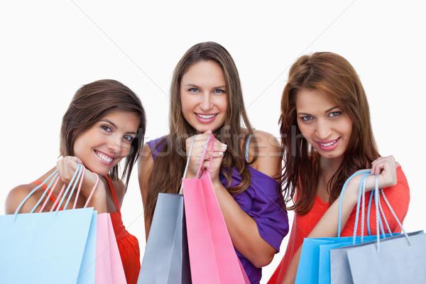 Adolescentes de volta compras orgulho feliz beleza Foto stock © wavebreak_media