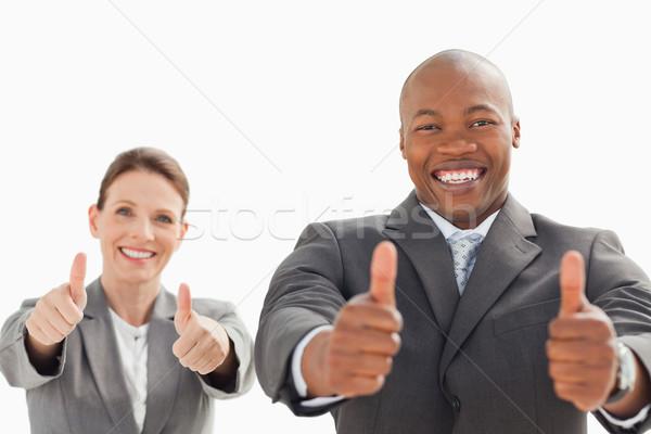 деловой человек женщину бизнеса улыбка фон Сток-фото © wavebreak_media