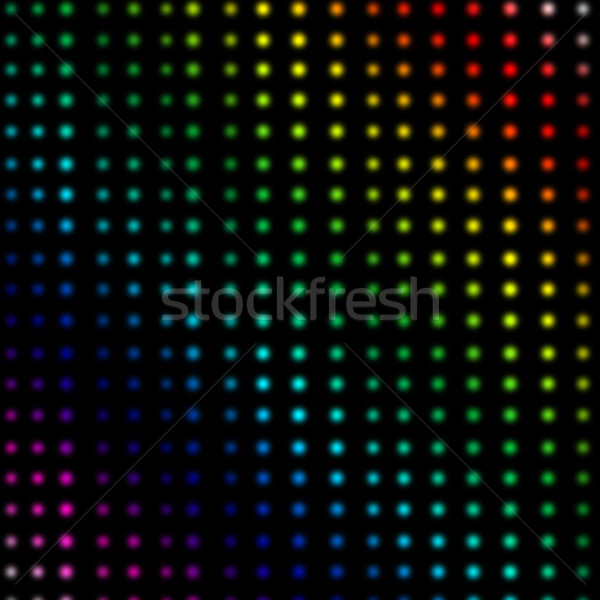 Multicolored dots forming lines against a black background Stock photo © wavebreak_media
