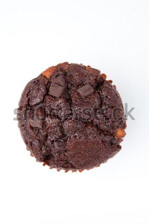Aşırı çikolata çörek beyaz Stok fotoğraf © wavebreak_media