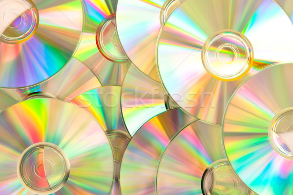 Compact discs piled up with reflection Stock photo © wavebreak_media