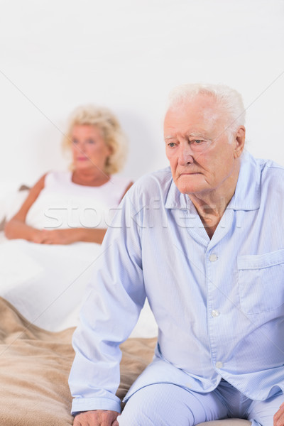 Elderly couple on a bed Stock photo © wavebreak_media