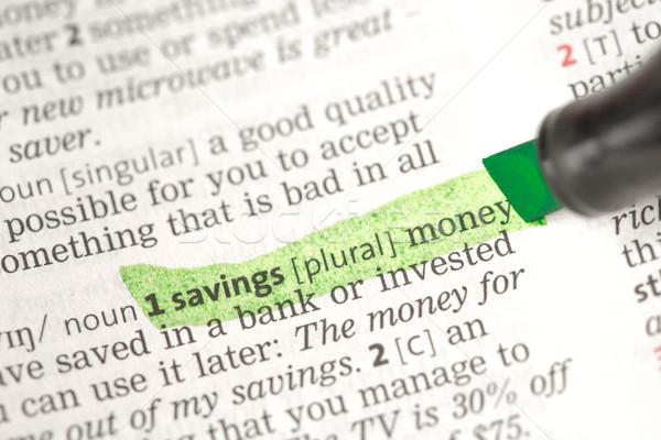 貯蓄 お金 定義 緑 辞書 ストックフォト © wavebreak_media