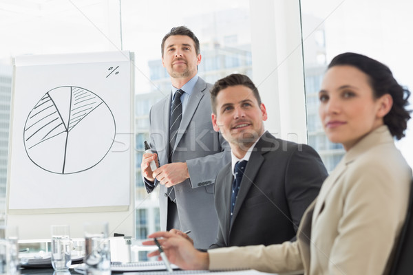 Stock photo: Business people in office at presentation