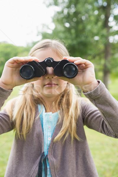 少女 見える 双眼鏡 公園 肖像 かわいい ストックフォト © wavebreak_media