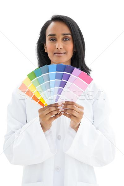 Portret młoda kobieta farby biały projektu Zdjęcia stock © wavebreak_media