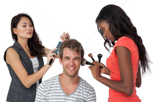 макияж белый человека моде Сток-фото © wavebreak_media