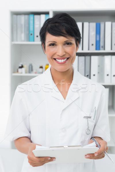 Mosolyog női orvos orvosi iroda portré Stock fotó © wavebreak_media