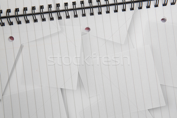 Digitally generated notepad with lined paper Stock photo © wavebreak_media