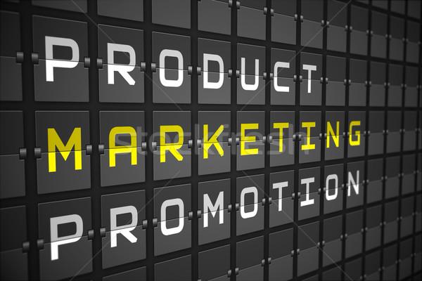 Marketing fekete gépi tábla digitálisan generált Stock fotó © wavebreak_media