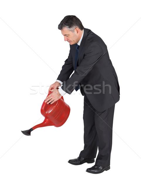 Volwassen zakenman Rood kan witte Stockfoto © wavebreak_media