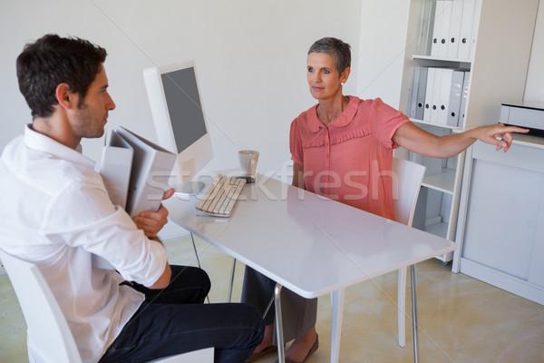 Lezser üzlet menedzser alkalmazott iroda üzletember Stock fotó © wavebreak_media