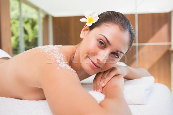 Bella sorridere bruna massaggio tavola sale Foto d'archivio © wavebreak_media
