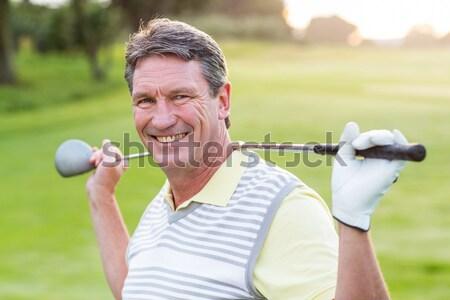Gülen yakışıklı golfçü bakıyor kamera Stok fotoğraf © wavebreak_media