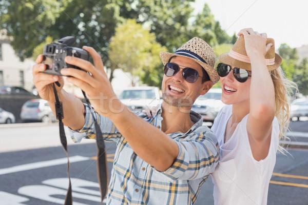Jonge heup paar stad Stockfoto © wavebreak_media