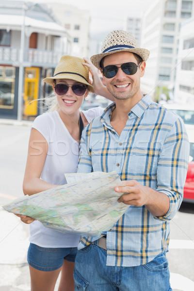 молодые туристических пару Consulting карта Сток-фото © wavebreak_media