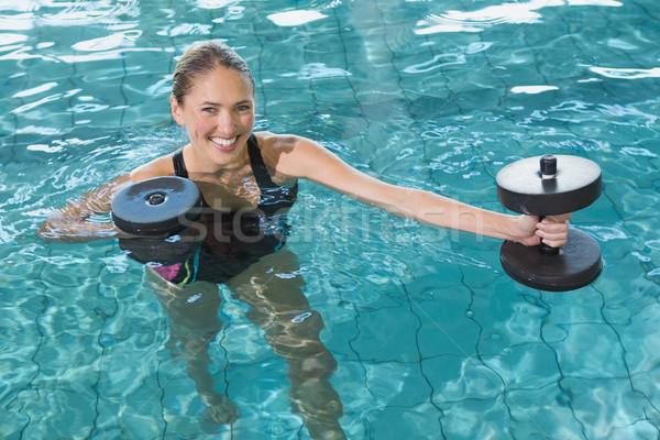 Uygun köpük dambıl yüzme havuzu Stok fotoğraf © wavebreak_media